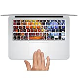 Customized Famous Painting Series Under the Street Light Special Personalized Design Removable Vinyl Decal Keyboard Sticker for Macbook Air 13'' (Model A1369/a1466)