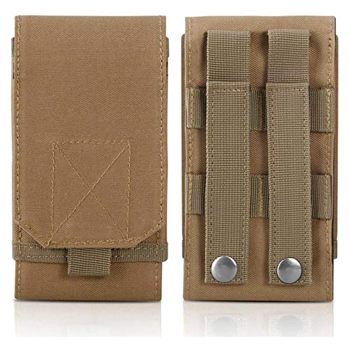 Mobile Phone Case Cover - DOUN Tactical Phone Holster Army Mobile Phone Belt Pouch Molle Bag Cover Case for iPhone Xs Max iPhone 8 Plus Galaxy Note 9 S10 Plus - Khaki
