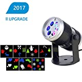 Christmas Decorations Lights - Rotating Projection LED Lights Spotlights for Christmas, Thanksgiving, Party, Balcony, Indoor Decor, 7PCS Switchable Pattern Lens Dynamic Lighting Projector Light Show