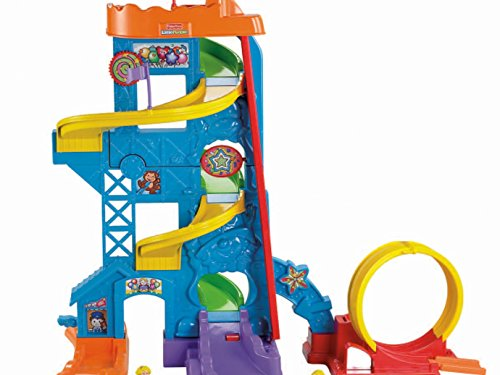 51riNe%2BgR7L - Fisher-Price Little People Loops 'n Swoops Amusement Park [Amazon Exclusive]