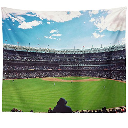 um Baseball - Wall Hanging Tapestry - Picture Photography Artwork Home Decor Living Room - 68x80 Inch (5866A) ()