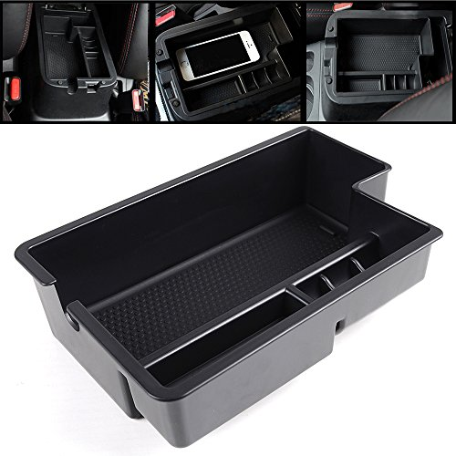 Direct Fit 2010-2015 Mitsubishi Outlander Sport ASX RVR Center Console Armrest Secondary Storage Box Pallet Container--Black High Quality ABS