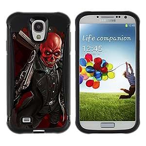 ZAKO Cases / Samsung Galaxy S4 I9500 / Red Baron / Robusto Prueba de choques Caso Billetera cubierta Shell Armor Funda Case Cover Slim Armor