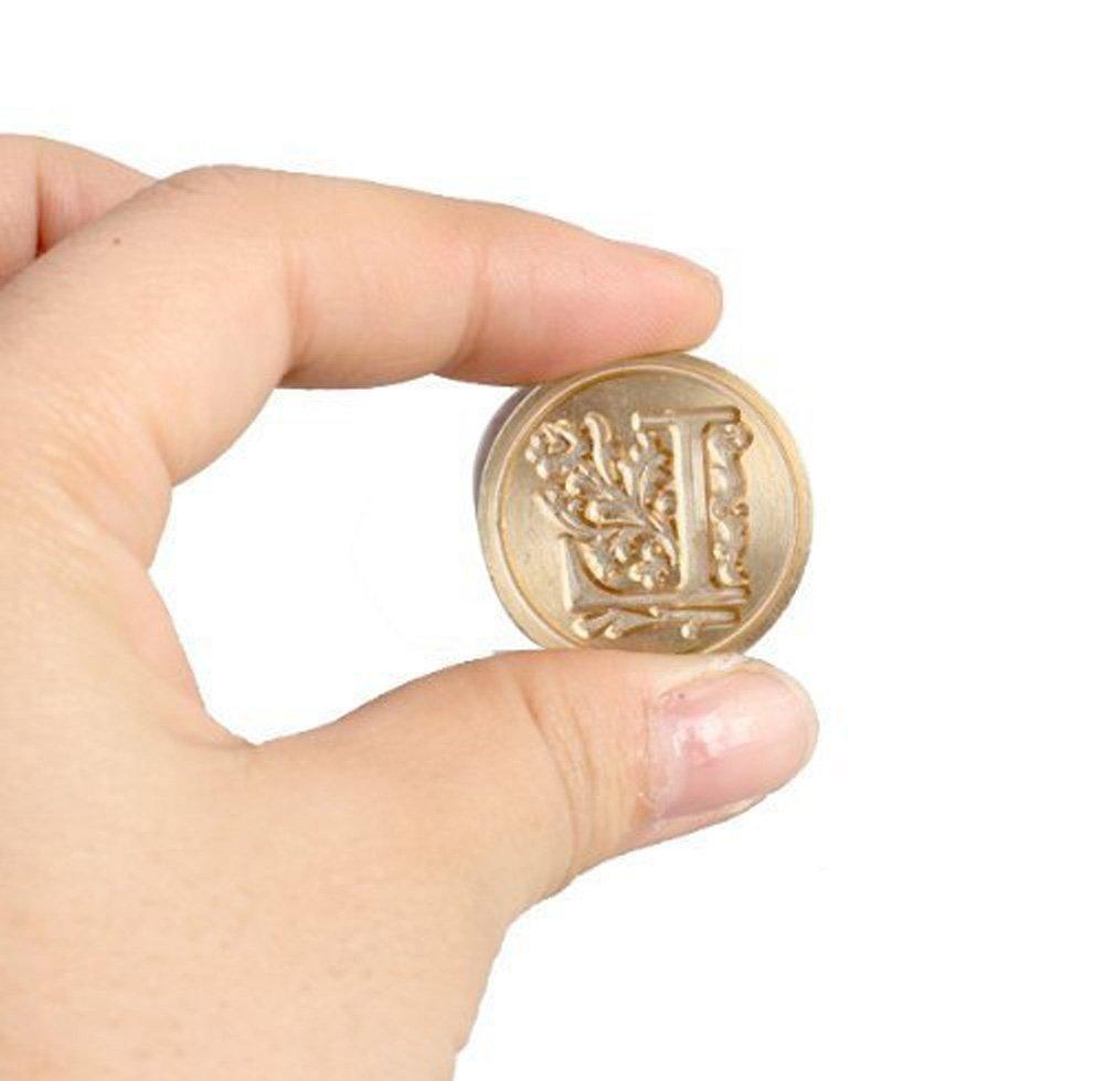 E 9cm 1 Pezzi Size 2.5 Fablcrew Sigillo Timbro Ceralacca con 26 Lettere Maiuscole Inglesi