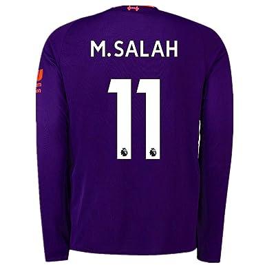 huge selection of 6ccc3 fb164 Salah 11 Liverpool Away 2018-2019 Men's Long-Sleeve Socce Jersey