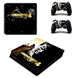 Uncharted 4 a thief's end ps4 slim skin decal for console and 2 controllers