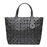 Geometry Diamond Shoulder Bags Lattice Fold Bao Handbags Ladies Matte Totes Coffee