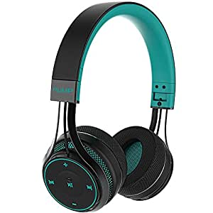 BlueAnt - Pump Soul On Ear Wireless HD Headphones, Stylish, Audio with One Touch Controls (Teal)