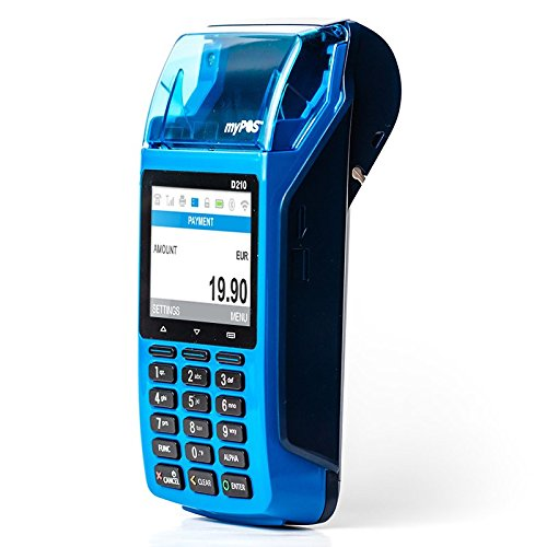 myPOS Combo Point of Payment Terminal Bank Card Reader Blue