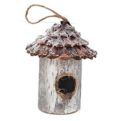 bird house ornaments Amazoncom Factory Direct Craft Pair Of Delicately Crafted