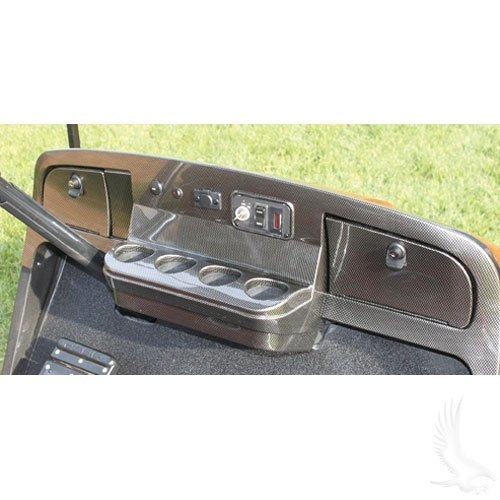 Parts Direct EZGO TXT Golf Cart Custom Dash - Carbon Fiber ()