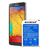 Galaxy Note 3 Battery, MAXBEAR 3300mAh Replacement Li-ion Battery for Samsung Galaxy Note