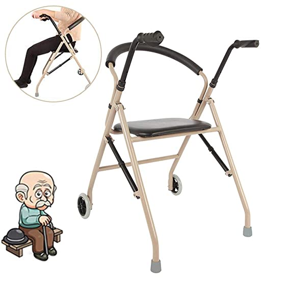 HLDWXN Andador para Adultos Anciano con Polea De Asiento ...