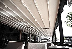 NAO Pergola bajo Consumo de toldo retráctil Impermeable 3.5 m x ...