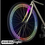 MonkeyLectric Monkey Light M204R - USB Rechargeable - 40 Lumen Ultrabright Bike Wheel Light - 4 Full Color LEDs