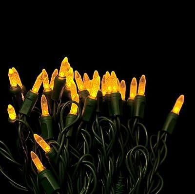 Yellow Mini LED Christmas lights - Yellow M5 Mini String light 35ft.