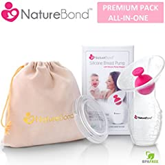 Buy ORIGINAL NatureBond™ Silicone Manual Breast Pump product from USA. NatureBond™ Silicone Breastpump is one of the most natural ways to collect breast milk hands free manually using suction force.More importantly, it is the best natural pump to cat...