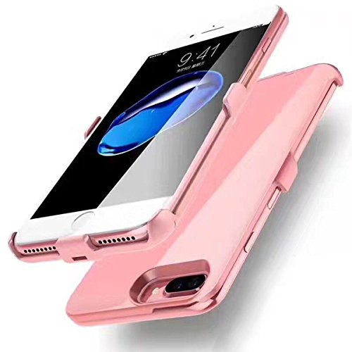 iPhone 6/6s/7 Plus Battery Case, GIZEE Ultra Slim 4000 mAh Portable Protective Rechargeable Charging Case for Apple iPhone 6 Plus/ iPhone 6S Plus/ iPhone 7 Plus 5.5 Inch - Rose Gold