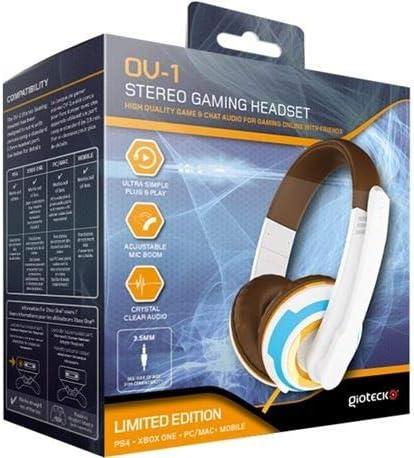 Gioteck - Gaming Stereo Headset OV-1 - Edición Limitada Overwatch (PS4, Xbox One, PC): Amazon.es: Videojuegos
