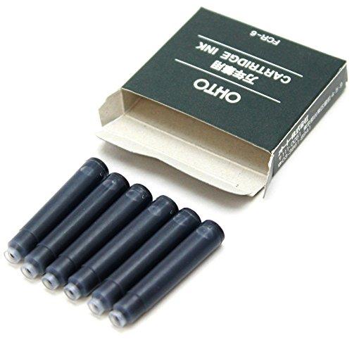 Ohto Fountain Pen Refill Cartridge - Black - Set of 6 Photo #4