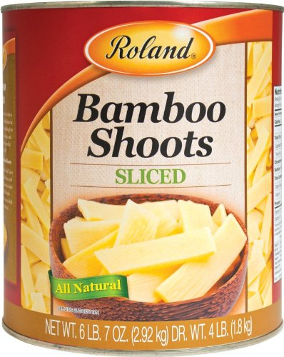 Price comparison product image Roland Foods Bamboo Shoots,  Sliced,  104 Ounce (Pack of 6)