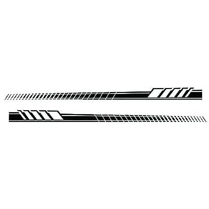Ahomi - 2 pegatinas de vinilo para coche, diseño de rayas largas ...