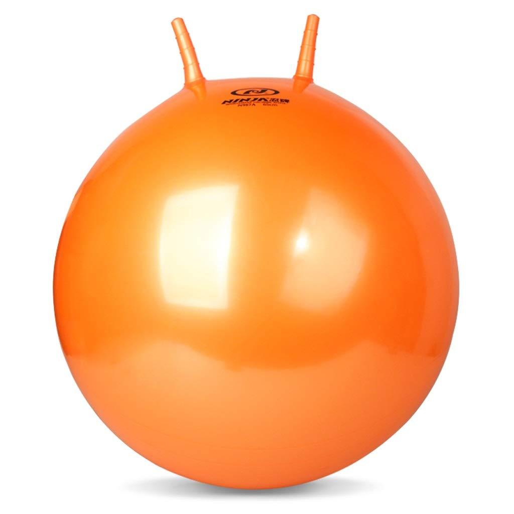 TMY Sheep Kick Ball Explosion-Proof Bouncing Ball Fitness Ball Yoga Ball Handle Ball Large Inflatable Ball 65cm (Color : Orange)