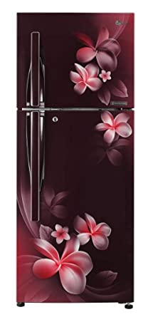LG 260 L 3 Star Inverter Linear Frost Free Double Door Refrigerator (GL-T292RSPN, Scarlet Plumeria, Convertible)