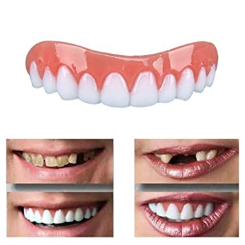 Amazon com : Bokze Silicone Artificial Teeth Simulation Brace Beauty