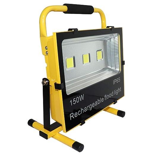 HENGMEI 150W Foco LED Proyector Blanco cálido Recargable Portátil ...