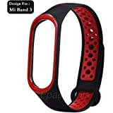 Epaal TPU Silicon Band Strap for Xiaomi Band 3/4, Mi Band 3 / Mi Band 4 (Red)