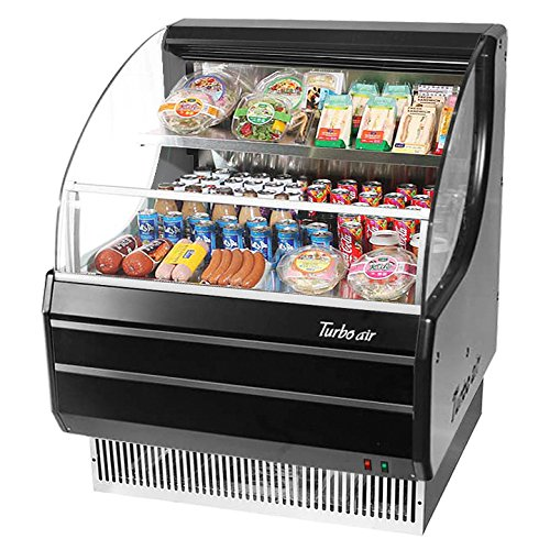 Turbo Tom-30LB Open Front Display Merchandiser, Refrigerated, Low-Profile, Horiz