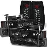 96 chevy 1500 headlight bulbs - C10 C/K Pickup Smoke Headlights + Corner + Bumper Signal + Smoke Philips Illumines LED Tail Lights
