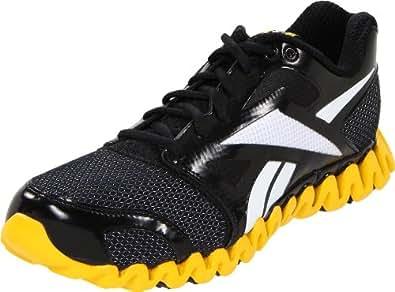Reebok Men's Zignano Fly 2 Running Shoe,Black/Blaze Yellow/White,11.5 M US