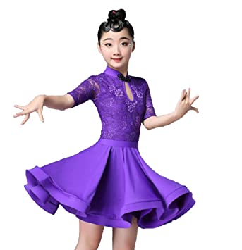 YZLL Traje de Baile Latino para niños Niñas, niños ...