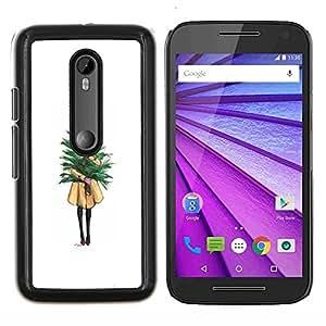 Eason Shop / Premium SLIM PC / Aliminium Casa Carcasa Funda Case Bandera Cover - Chica Significado minimalista Navidad - For Motorola MOTO G3 ( 3nd Generation )