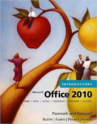 Microsoft Office 2010, Introductory (Origins Series) 001, Pasewark ...