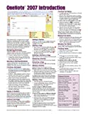 OneNote 2007 Introduction Quick Reference Guide (Cheat Sheet of Instructions, Tips and Shortcuts - Laminated Card), Beezix Inc, 1934433233