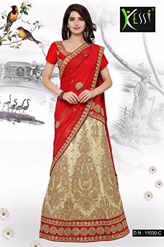 Fashions Trendz Indian Women Designer Wedding Beige Lehenga Choli SS-11030C by Fashions Trendz (Image #1)