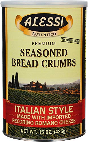 Alessi Italian Style Seasoned Bread Crumbs, 15 Ounce (Pack of 6)