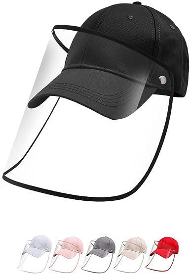 hunteen Gorras de Hombre de Beisbol Gorra Antipolvo Tapa Protectora Gorra con Máscara Facial Transparente Impermeable Antiescupir para Deporte al Aire Libre Extraíble Negro Ajustable Unisex: Amazon.es: Ropa y accesorios