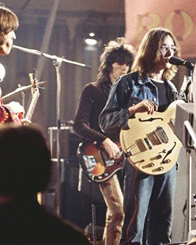 John Lennon Playing Guitar At Rock Roll Circus With Keith Richards 8x10 Promotional Photograph At Amazon S Entertainment Collectibles Store