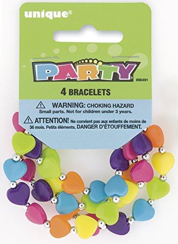 Heart Bead Bracelet Party Favors