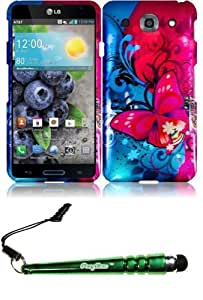 FoxyCase(TM) FREE stylus AND For LG Optimus G Pro E980 Design Cover Case - Butterfly Bliss cas couverture