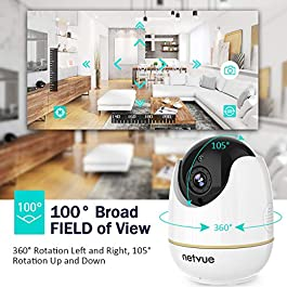 Dog Camera – 1080P Dog Camera with Phone App, Pan/Tilt/Zoom Home Camera with 2-Way Audio, AI Human Detection, Night Vision, Cloud Storage/TF Card, Compatible with Alexa, Camera for Pets/Baby