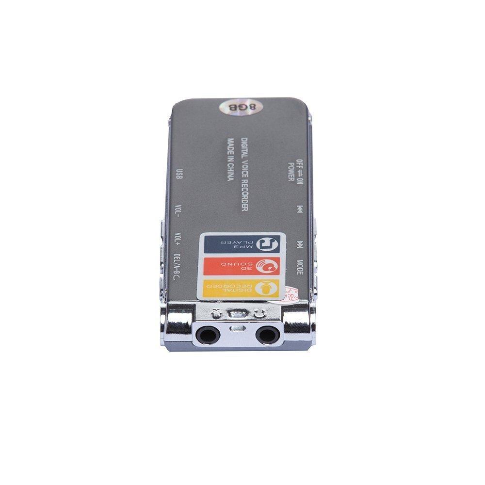 Batería de 8 GB Grabadora de Voz Digital dictáfono Reproductor de mp3 Sound Record: Amazon.es: Electrónica