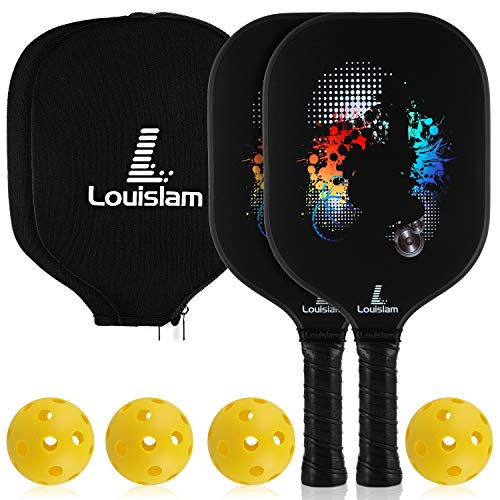- Louislam Pickleball Paddle Set of 2 Graphite Pickleball Racket Honeycomb Composite Core Ultra Cushion 4.25In Grip Pickleball Racquet 7.8 OZ with 2Cover USAPA Approved