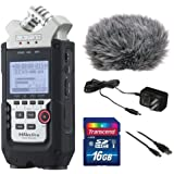 Zoom H4n Pro 4-Channel Handy Recorder Bundle with Custom Windbuster for Zoom H4n, AC Adapter, A Male to Type B Mini Male Cable (6') and 16GB SD Card