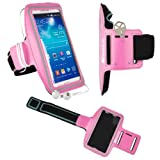 LG X Power / X Skin/ X5 / K3 / Spree / G5 / K7 / Optimus Zone 3 / K4 / K5 / K10 / Nexus X5 Pink Armband, Outdoor Jogging Excercise SportsBand Hiking Strap [Key Holder]