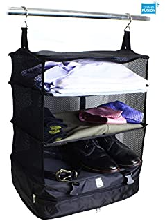 Stow N Go Portable Luggage System   Large, Packable Hanging Travel Shelves U0026
